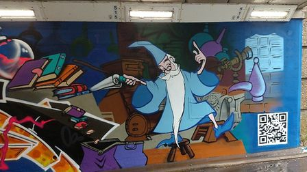 Artist Mark Tanti has brightened up the underpass near Asda in Stevenage with some large murals. Pic