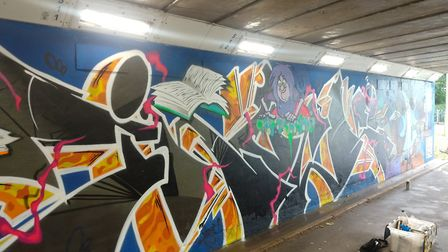 Mark aims to turn towns into public art galleries with his community artwork. Picture: Courtesy of H
