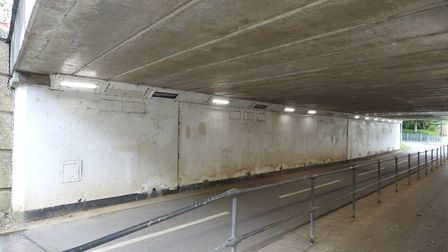 The underpass was dull and uninspiring before Mark brought it to life with his bright and imaginativ