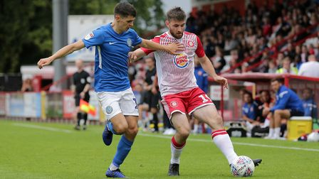 Danny Newton in action for Stevenage against Macclesfield Town in August 2019. Picture: GAVIN ELLIS/