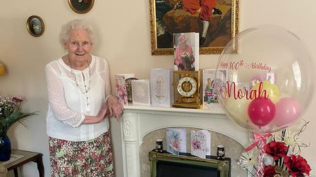 Norah Maylin from Letchworth celebrated her 100th birthday on Sunday with a special cream tea at her
