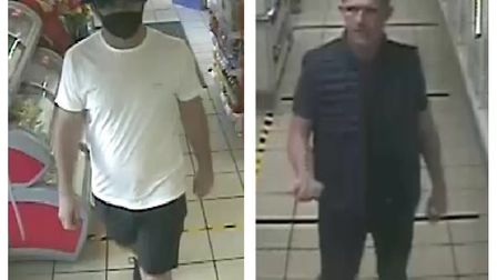 Police want to trace two men who may be able to assist with enquries after a large quantity of tobac