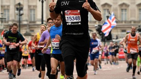 Dexter Wright, pictured at last year's London Marathon, is raising money for St John Ambulance in h