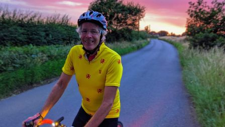 Stevenage Mayor and Cycling UK's Jim Brown on an evening ride. Picture: PENNY SCHENKEL