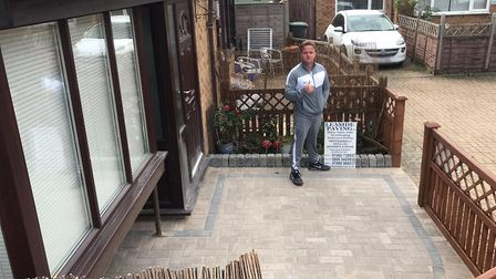 Leaside Paving in Arlesey completed this work for free after they found out Sian was a keyworker. Pi