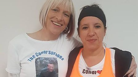 Sarah Mellor is set to run a marathon to raise money for The Conor Spraggs Foundation, set up by his