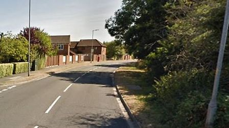 Great Ashby Way is blocked following a collision. Picture: Google