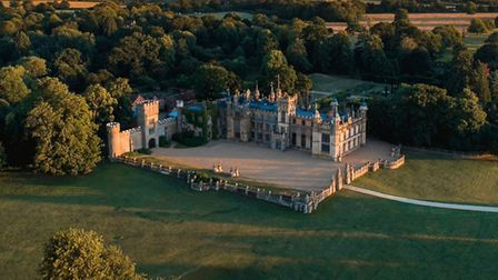 Drone image of Knebworth House from the air. Picture: supplied by Knebworth House