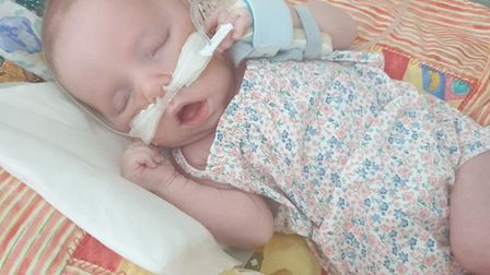 When Lily was born, she wasn't breathing and she had broken bones and no gag reflex. Picture: Suppli