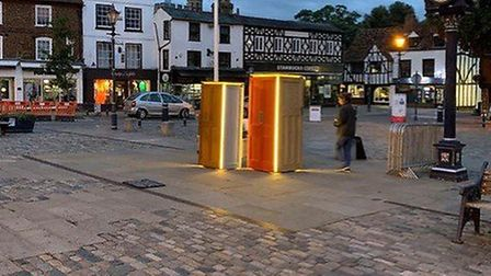 A light exhibition attracted more than 800 visitors to Hitchin town centre. Picture: Hitchin BID