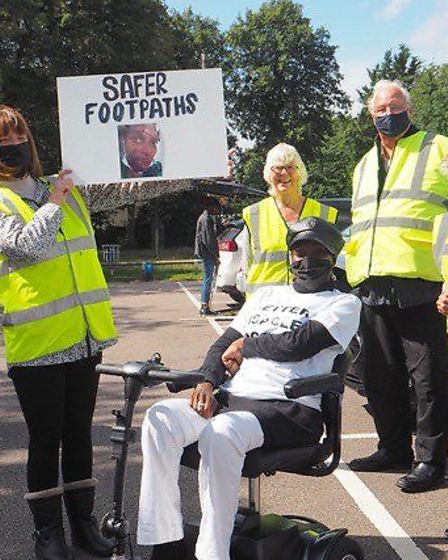 Ruth Green led a march for more accessible and safer paths in Letchworth after an accident left her