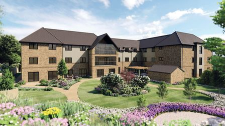 The proposed care home at Land to the South of Radwinter Road, Saffron Walden. Photo: Supplied by En