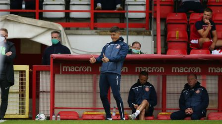 Alex Revell is spearheading a return of positivity for Stevenage fans. Picture: DANNY LOO/TGS PHOTO