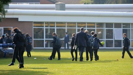 Hitchin Boys' School has closed after a member of teaching staff tested positive for COVID-19. Pictu