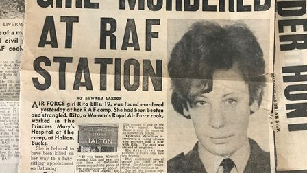 A newspaper article printed after the murder of Rita Ellis. Picture: Herts Police.
