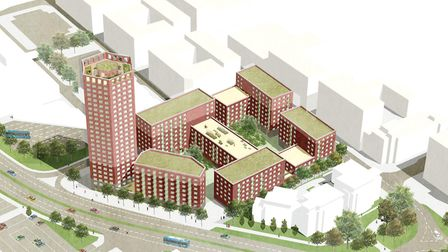 The plan for 526 new homes, which will be delivered by The Guinness Partnership, will be on Danestre