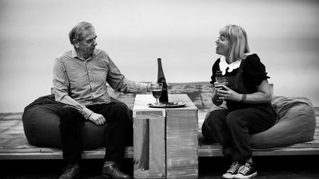 Rehearsals for the upcoming production of Heisenberg - The Uncertainty Principle by Simon Stephens a