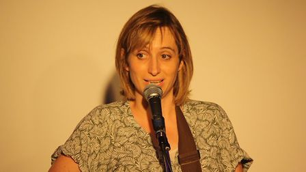 Peep Show star and comedian Isy Suttie at Hitchin Mostly Comedy. Picture: Gemma Poole.