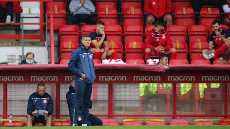 Stevenage manager Alex Revell said it had been a tough week for the club. Picture: DANNY LOO