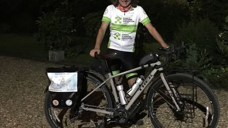Richard arrived back home in Letchworth at around 9pm, having set off on the journey at 5am that mor