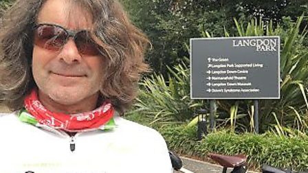 On his journey, Richard stopped Langdon Park in Teddington - the Langdon Down Centre is the former h
