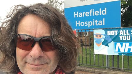 Around 40 miles into his 100-mile cycle, Richard arrived at Harefield Hospital where Tom underwent o