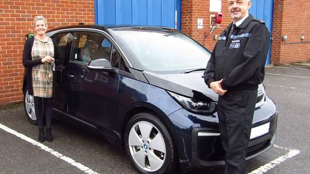 The new BMW electric vehicles will be deployed in and around Hitchin. Picture: Herts Police