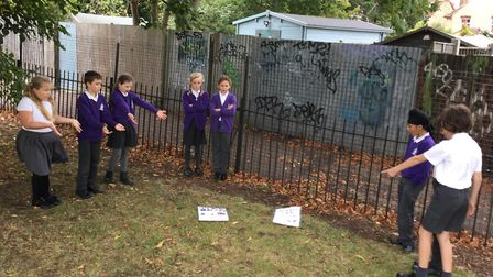 Pupils from Wilshere-Dacre Junior Academy are 'shocked' by the reaction of the local community to th