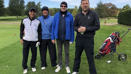 The 'Where's Ben' team took first prize at the golf competition in aid of Herts' MS Therapy Centre.