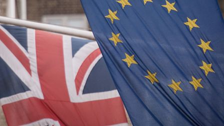 The European and Union flags. Photograph: Stefan Rousseau/PA Wire.