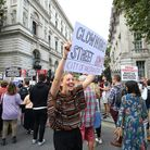 Campaigners are fighting to #stopthecoup in Central London. Photograph: Gareth Fuller/London.