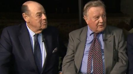 Nicholas Soames and Ken Clarke appear on Newsnight. Photograph: BBC.