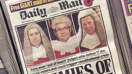 A front page of the Daily Mail. Photograph: TNE.