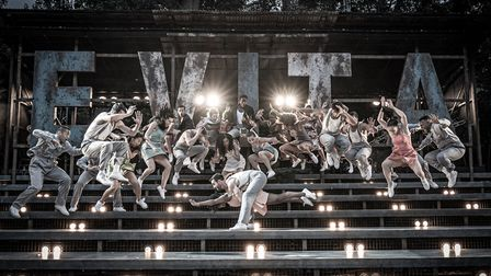 Stage performance of Evita at Regents Park Theatre. Photograph: Marc Brenner.