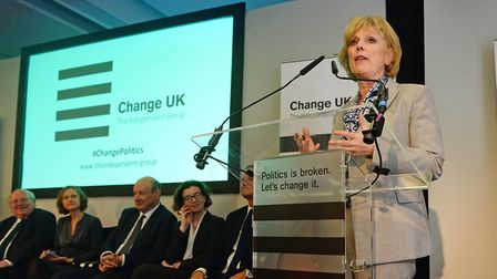 Anna Soubry, leader of the Independent Group for Change, formerly known as Change UK. Photograph: Ki