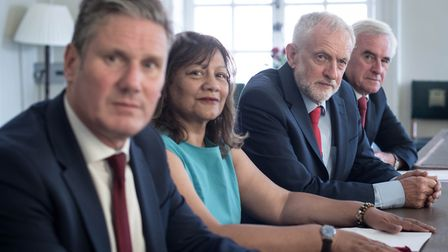 (left to right) Shadow Brexit Secretary Sir Kier Starmer, shadow leader of the House of Commons Vale