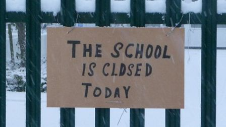 A number of Hertfordshire schools will be closed on Monday, January 21 because of the snow