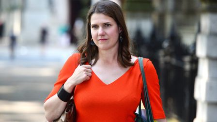 Jo Swinson, leader of the Liberal Democrats leaving Millbank. Photograph: Kirsty O'Connor/PA Wire.