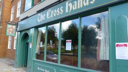 The repainted The Parkway Bar in Welwyn Garden City doubling as The Cross Hands - the fourth pub vis