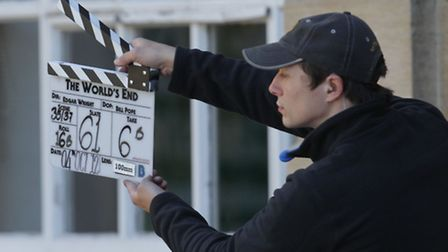 Action! Shooting of Simon Pegg movie The World's End in Welwyn Garden City
