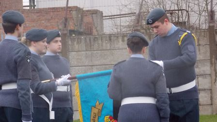 The Wisbech cadets during the Banner Competition