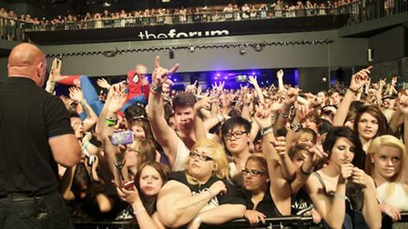The crowd inside the Forum Hertfordshire at the 2012 Slam Dunk Festival in Hatfield [Picture: marian