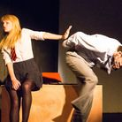 Alison (Rosie Thomas) giving the brush-off to Tom (Jon Brown) in the Barn Theatre's production of My