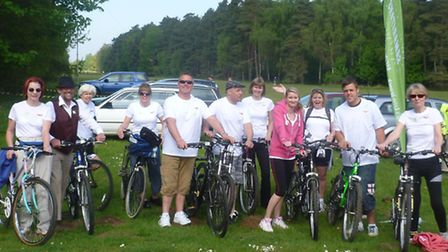 Outwell cyclists at Sandringham