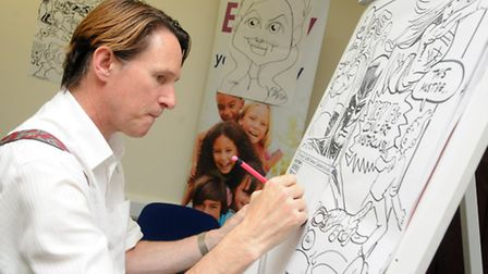Comic book illustrator Kev F in action