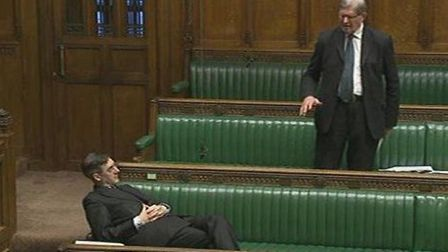 Jacob Rees-Mogg during a debate in 2017. Photograph: TNE/Parliament TV.