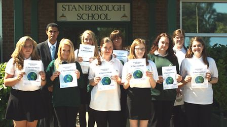 The 10 competition winners and their certificates