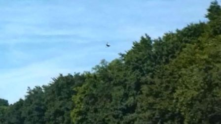 The 'UFO' photographed above the A1(M) earlier this month