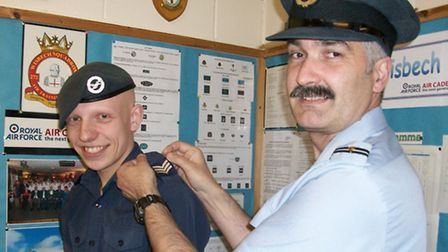 Sgt Chadney gets his stripes.