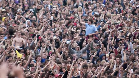Crowds at a previous Knebworth concert